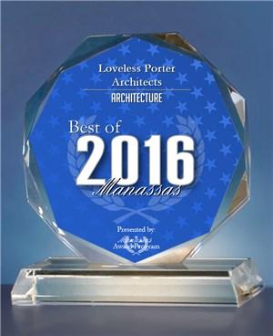 Loveless Porter Architects Receives 2016 Best of Manassas Award